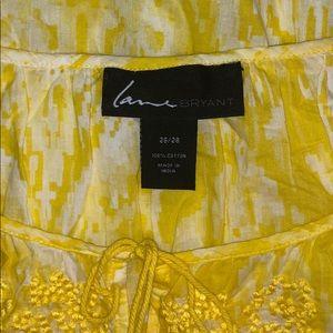 Lane Bryant Tops - Lane Bryant 26/28 Yellow Ikat Print Peasant Shirt